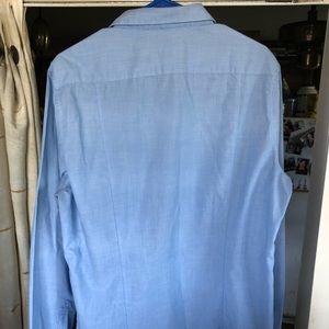 H&M Shirts - H&M Slim Fit Classic Blue Button-Up Dress Shirt